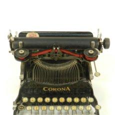 Antigüedades: MAQUINA DE ESCRIBIR CORONA Nº3 AÑO 1917 TYPEWRITER SCRHEIBMASCHINE. Lote 177201413