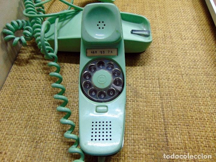 TELEFONO CITESA, MODELO GONDOLA ,AÑOS 70, FUNCIONANDO, VERDE CLARO. W (Antigüedades - Técnicas - Teléfonos Antiguos)