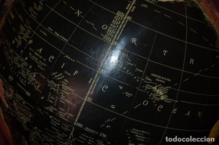 Antigüedades: GLOBO TERRÁQUEO POLÍTICO AMERICANO (BOLA DEL MUNDO ) REPLOGLE, 30 CM, AÑO 1960 - Foto 14 - 177297324