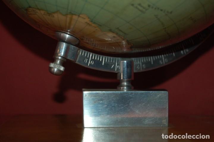 Antigüedades: GLOBO TERRÁQUEO POLÍTICO ALEMÁN (BOLA DEL MUNDO ) BEROLINA, 25 CM, AÑO 1957 - Foto 4 - 177300100