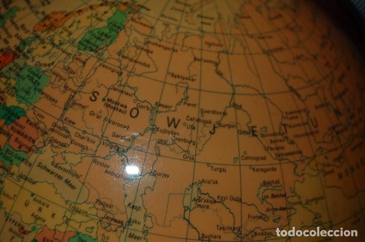 Antigüedades: GLOBO TERRÁQUEO POLÍTICO ALEMÁN (BOLA DEL MUNDO ) RÄTHS, 25 CM, AÑO 1978 - Foto 12 - 177306527