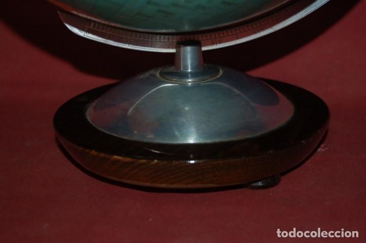Antigüedades: GLOBO TERRÁQUEO POLÍTICO ALEMÁN (BOLA DEL MUNDO ) COLUMBUS, 25 CM, AÑO 1965 - Foto 3 - 177309855