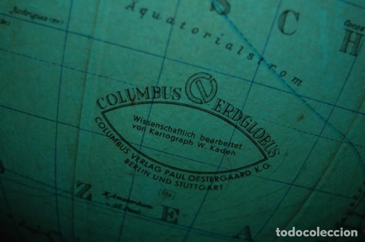 Antigüedades: GLOBO TERRÁQUEO POLÍTICO ALEMÁN (BOLA DEL MUNDO ) COLUMBUS, 25 CM, AÑO 1965 - Foto 7 - 177309855