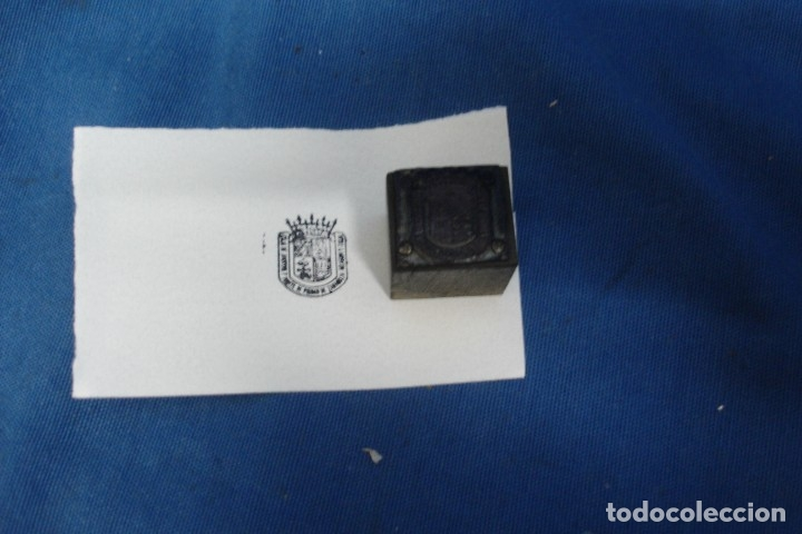ANTIGUO SELLO, TAMPÓN EN MADERA DE IBERCAJA (Antigüedades - Técnicas - Herramientas Profesionales - Imprenta)