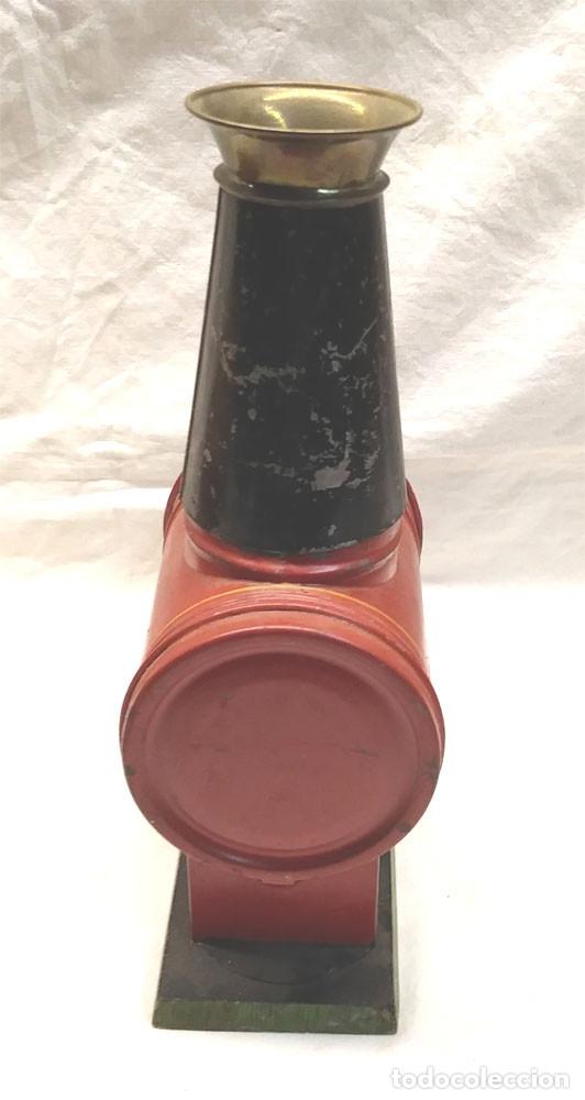Antigüedades: Linterna Mágica S XIX hojalata y latón completa, 3 cristales y con caja de origen - Foto 5 - 177337284