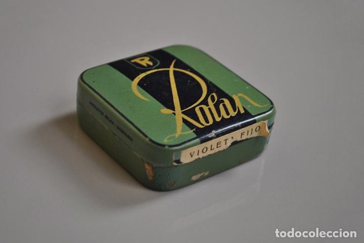 Antigüedades: Antigua caja metálica Rolan - Foto 2 - 177367709