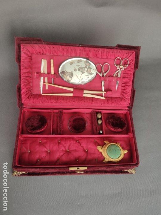Antigüedades: COSTURERO VICTORIANO DE VIAJE - Foto 5 - 177398757
