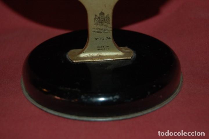 Antigüedades: GLOBO TERRÁQUEO POLÍTICO INGLÉS (BOLA DEL MUNDO ) CHAD VALLEY, 12 CM, AÑO 1950 - Foto 3 - 177405473