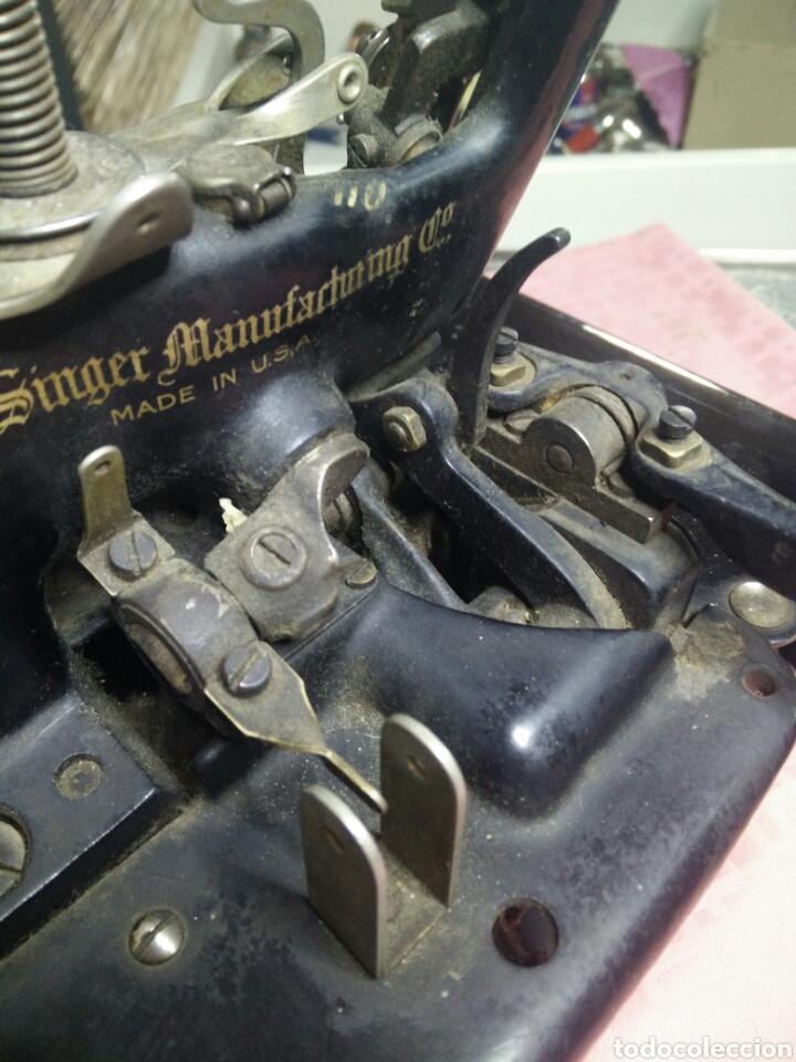 Antigüedades: Maquina de coser sombreros - Foto 9 - 177408879