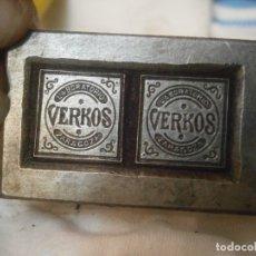 Antigüedades: ¡¡MOLDE DE IMPRENTA,AÑOS 30 40,¡¡UNICO EN TC¡¡LABORATORIO¡VERKOS¡¡ZARAGOZA¡¡. Lote 177425015