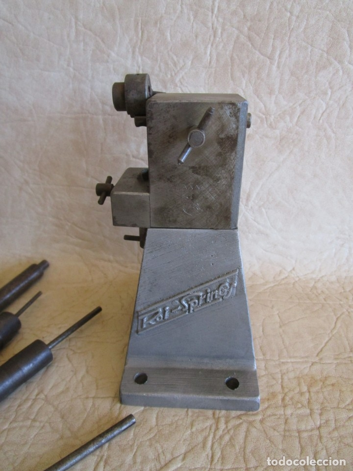 Antigüedades: antigua maquina de hacer muelles roi springs - Foto 3 - 177465497