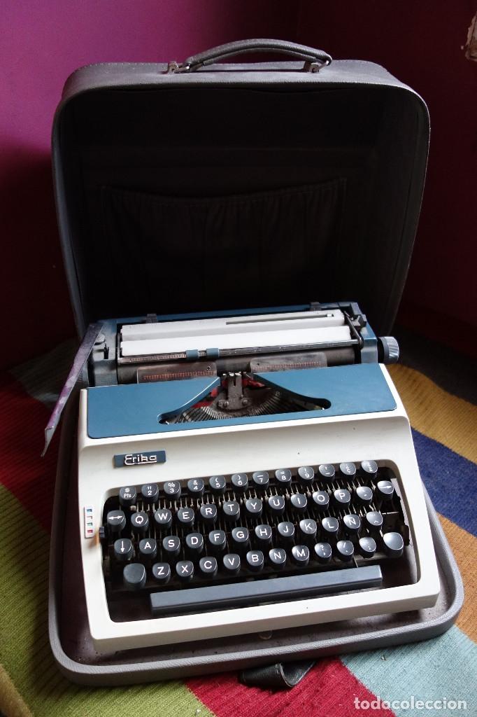 MÁQUINA ESCRIBIR ERIKA VINTAGE (Antigüedades - Técnicas - Máquinas de Escribir Antiguas - Erika)