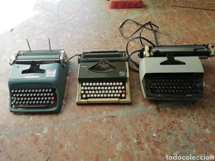 LOTE DE 3 MÁQUINAS DE ESCRIBIR (Antigüedades - Técnicas - Máquinas de Escribir Antiguas - Smith)