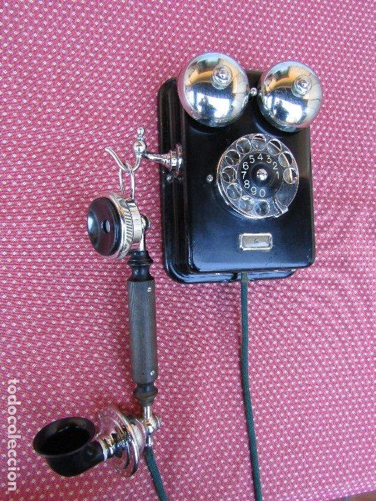 Teléfonos: ANTIGUO TELEFONO DE PARED DE LA MARCA TELEFONAKTIEBOLAGET, L. M. ERICSSON, AÑO: 1932 - Foto 2 - 177628604