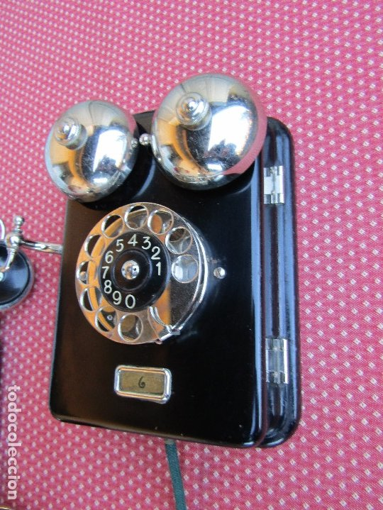 Teléfonos: ANTIGUO TELEFONO DE PARED DE LA MARCA TELEFONAKTIEBOLAGET, L. M. ERICSSON, AÑO: 1932 - Foto 3 - 177628604