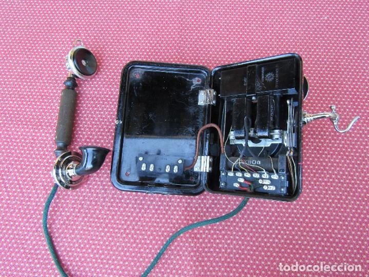 Teléfonos: ANTIGUO TELEFONO DE PARED DE LA MARCA TELEFONAKTIEBOLAGET, L. M. ERICSSON, AÑO: 1932 - Foto 7 - 177628604