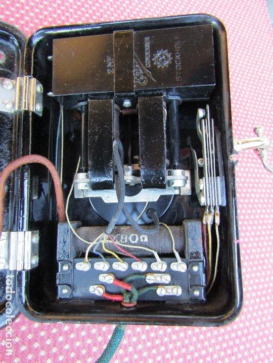 Teléfonos: ANTIGUO TELEFONO DE PARED DE LA MARCA TELEFONAKTIEBOLAGET, L. M. ERICSSON, AÑO: 1932 - Foto 8 - 177628604