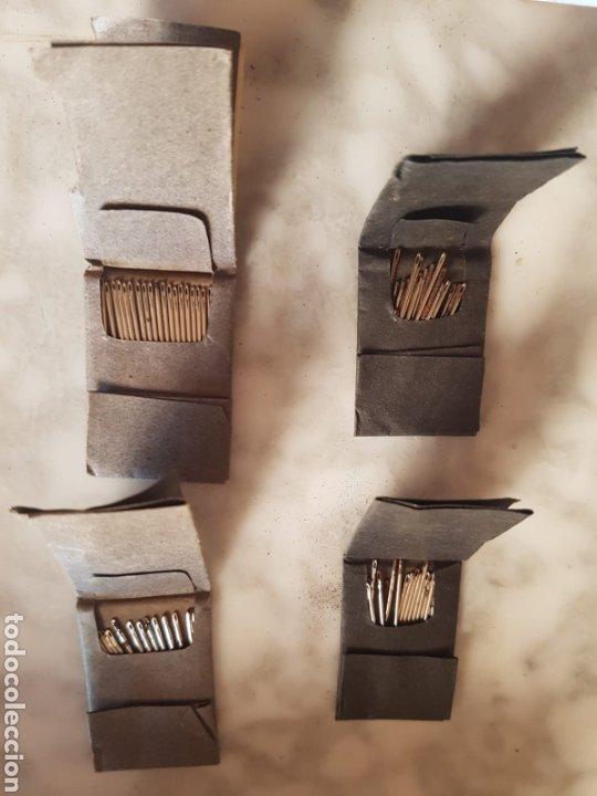 Antigüedades: Lote de 4 paquetes de agujas de coser victoriana fabricadas por W. Avery & Son Inglesa - Foto 2 - 177789447