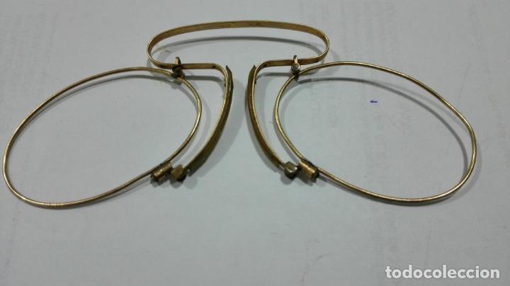 ANTIGUAS GAFAS ANTEOJOS QUEVEDO, SIN CRISTALES, DORADAS (Antigüedades - Técnicas - Instrumentos Ópticos - Gafas Antiguas)