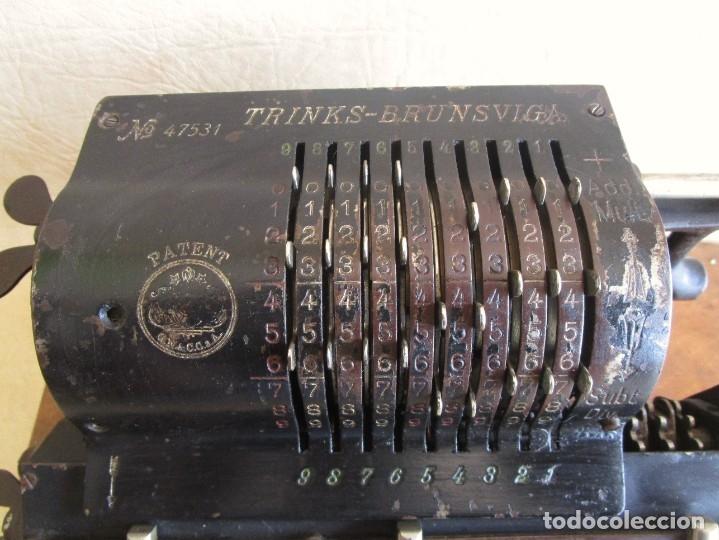 Antigüedades: antigua maquina de calcular calculadora venancio guillamet trinks brunsviga - Foto 4 - 91572195