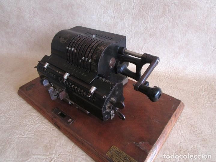 Antigüedades: antigua maquina de calcular calculadora venancio guillamet trinks brunsviga - Foto 7 - 91572195