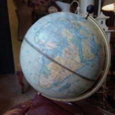 Antigüedades: ANTIGUO GLOBO TERRAQUEO , BOLA DEL MUNDO EN CHAPA LITOGRAFIADA , AÑOS20. Lote 177940169