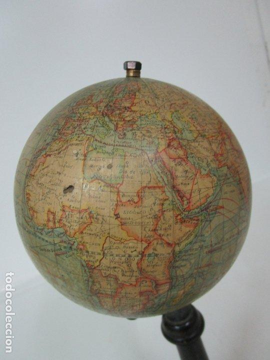 Antigüedades: Antiguo Globo Terráqueo - Paluzie Imprenta Elzeviriana - Bola del Mundo - Corrientes Marinas - Foto 4 - 177971513