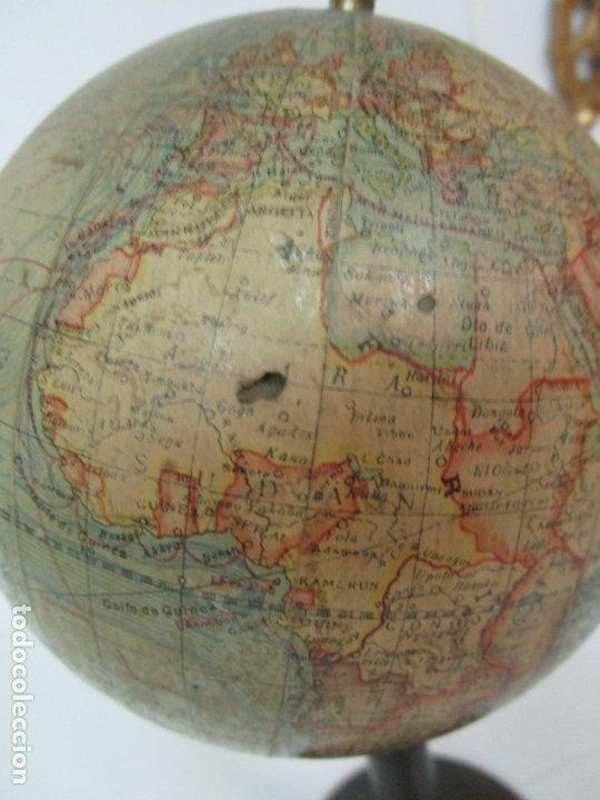 Antigüedades: Antiguo Globo Terráqueo - Paluzie Imprenta Elzeviriana - Bola del Mundo - Corrientes Marinas - Foto 5 - 177971513