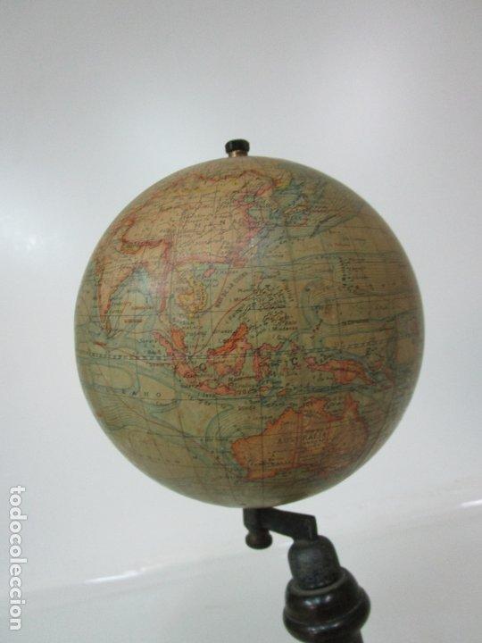 Antigüedades: Antiguo Globo Terráqueo - Paluzie Imprenta Elzeviriana - Bola del Mundo - Corrientes Marinas - Foto 6 - 177971513