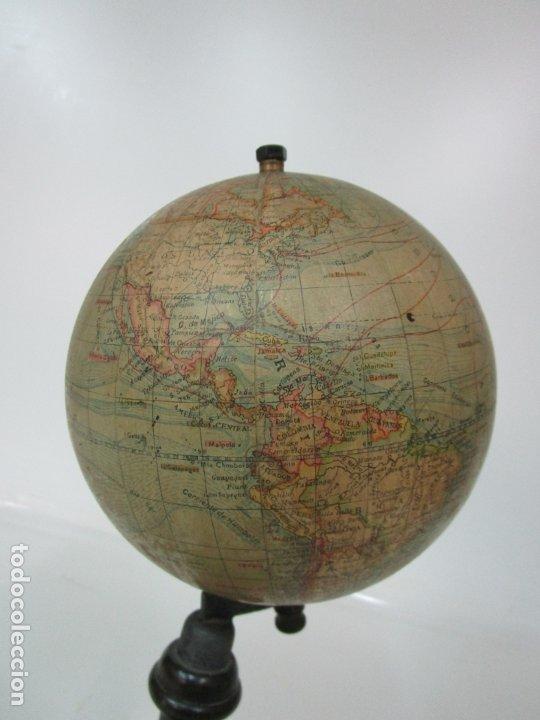 Antigüedades: Antiguo Globo Terráqueo - Paluzie Imprenta Elzeviriana - Bola del Mundo - Corrientes Marinas - Foto 8 - 177971513