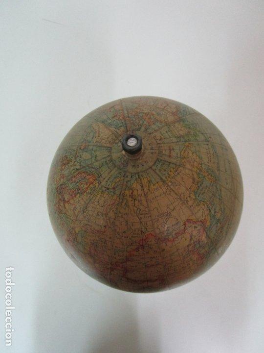 Antigüedades: Antiguo Globo Terráqueo - Paluzie Imprenta Elzeviriana - Bola del Mundo - Corrientes Marinas - Foto 10 - 177971513