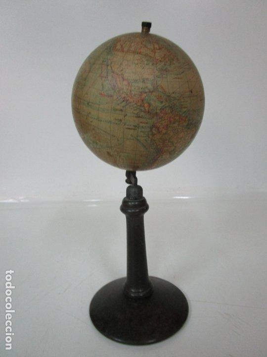 Antigüedades: Antiguo Globo Terráqueo - Paluzie Imprenta Elzeviriana - Bola del Mundo - Corrientes Marinas - Foto 11 - 177971513