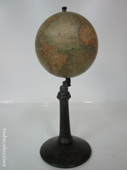 Antigüedades: Antiguo Globo Terráqueo - Paluzie Imprenta Elzeviriana - Bola del Mundo - Corrientes Marinas - Foto 12 - 177971513