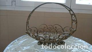 Antigüedades: Decorativo Frutero de hierro forjado - Foto 3 - 178056900