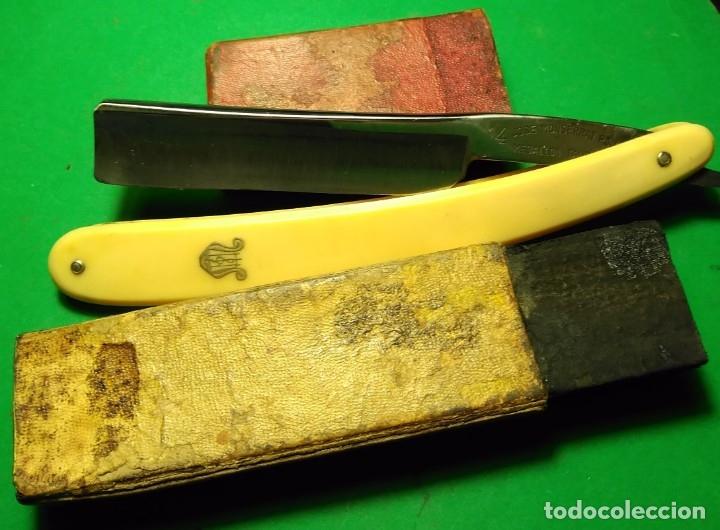 Antigüedades: Navaja afeitar MEDALLON TAURINO (FILARMONICA) con caja ORIGINAL straight razor - Foto 3 - 178086514