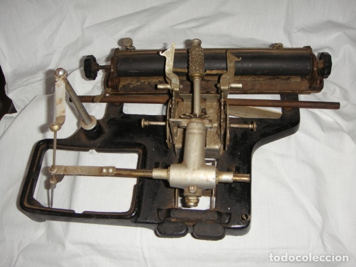 Antigüedades: Antigua Máquina de Escribir Francesa. MIGNON. Años 20. - Foto 2 - 178136193