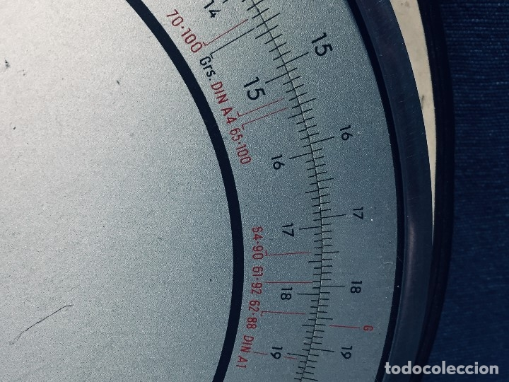 Antigüedades: círculo graduado calculadora alemana norma cálculo grafía 190 dbgm mitad s xx 20 cm - Foto 15 - 178164088