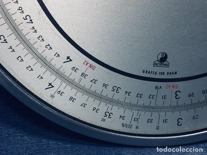 Antigüedades: círculo graduado calculadora alemana norma cálculo grafía 190 dbgm mitad s xx 20 cm - Foto 3 - 178164088