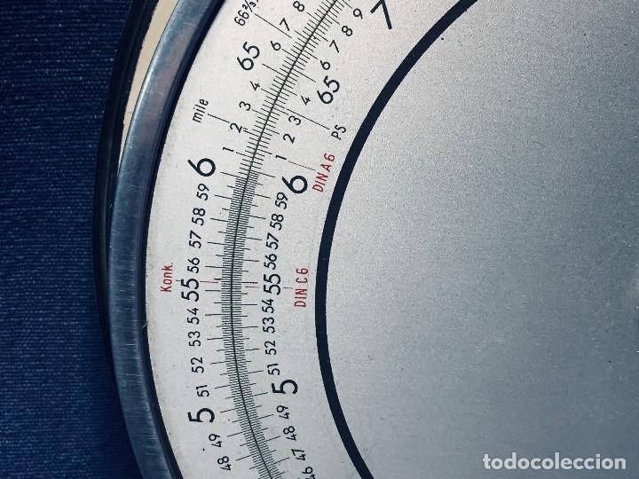 Antigüedades: círculo graduado calculadora alemana norma cálculo grafía 190 dbgm mitad s xx 20 cm - Foto 4 - 178164088