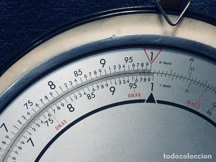 Antigüedades: círculo graduado calculadora alemana norma cálculo grafía 190 dbgm mitad s xx 20 cm - Foto 5 - 178164088