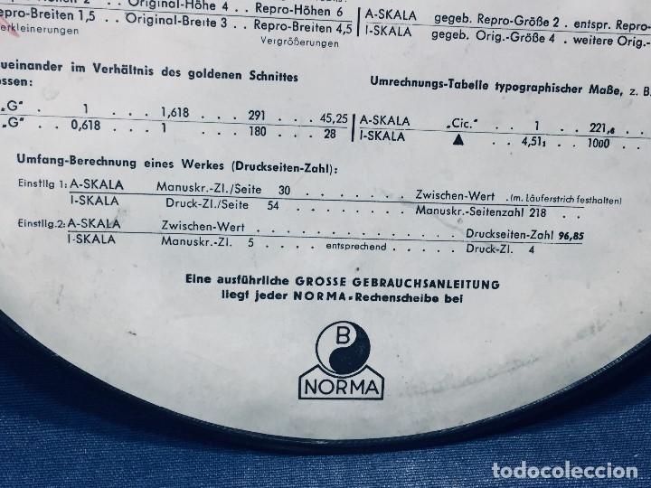 Antigüedades: círculo graduado calculadora alemana norma cálculo grafía 190 dbgm mitad s xx 20 cm - Foto 6 - 178164088