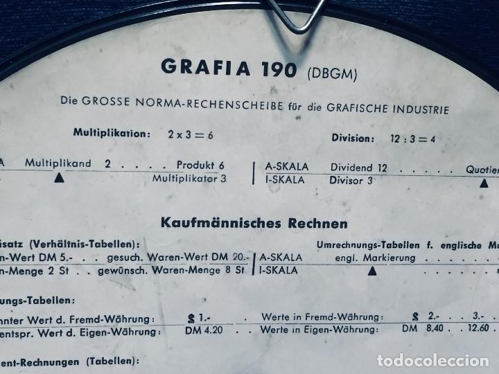 Antigüedades: círculo graduado calculadora alemana norma cálculo grafía 190 dbgm mitad s xx 20 cm - Foto 7 - 178164088