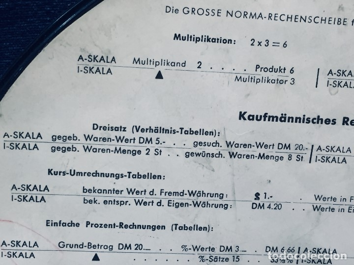 Antigüedades: círculo graduado calculadora alemana norma cálculo grafía 190 dbgm mitad s xx 20 cm - Foto 8 - 178164088