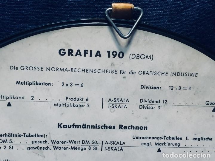 Antigüedades: círculo graduado calculadora alemana norma cálculo grafía 190 dbgm mitad s xx 20 cm - Foto 9 - 178164088