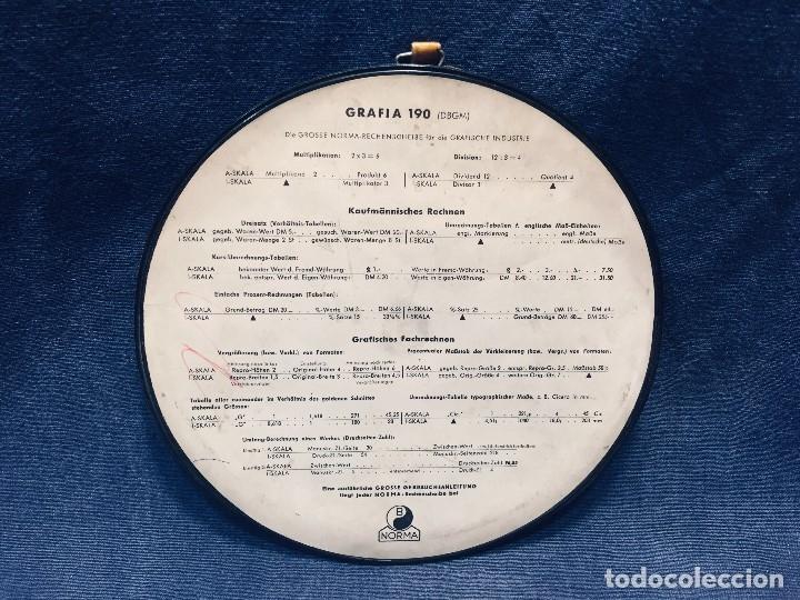 Antigüedades: círculo graduado calculadora alemana norma cálculo grafía 190 dbgm mitad s xx 20 cm - Foto 12 - 178164088