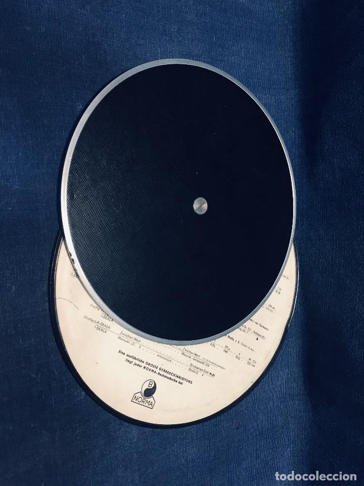 Antigüedades: círculo graduado calculadora alemana norma cálculo grafía 190 dbgm mitad s xx 20 cm - Foto 13 - 178164088