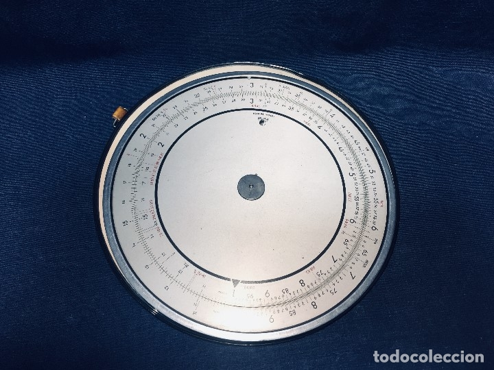 Antigüedades: círculo graduado calculadora alemana norma cálculo grafía 190 dbgm mitad s xx 20 cm - Foto 14 - 178164088