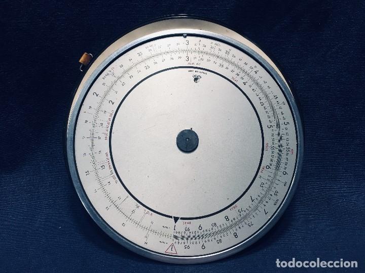 CÍRCULO GRADUADO CALCULADORA ALEMANA NORMA CÁLCULO GRAFÍA 190 DBGM MITAD S XX 20 CM (Antigüedades - Técnicas - Aparatos de Cálculo - Reglas de Cálculo Antiguas)