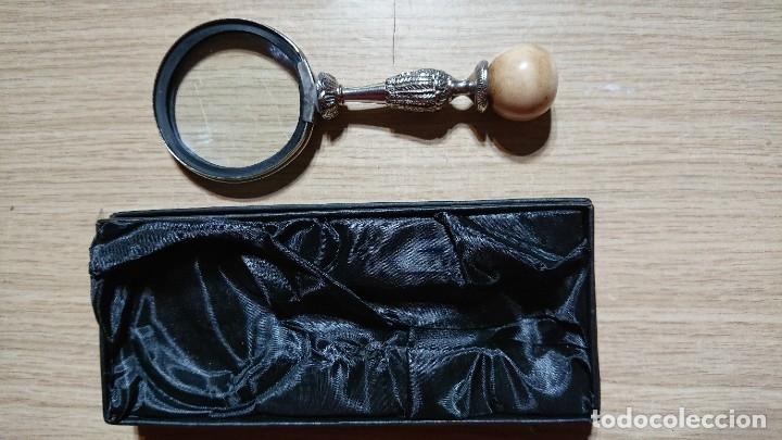 Antigüedades: LUPA DE AUMENTO CON CAJA - Foto 2 - 178264766