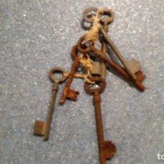 Antigüedades: LOTE DE LLAVES. Lote 178267575